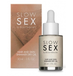 Slow Sex Hair and Skin Shimmer Dry Oil