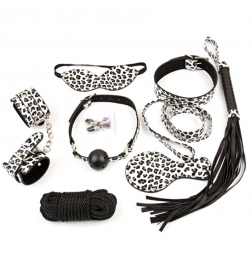 Snow Leopard Bondage Kit 8 piece