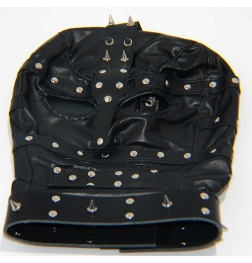 Spiked Bondage Hood Leather