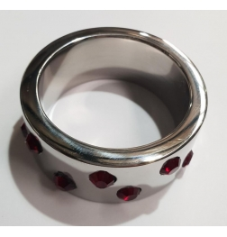 Staggered Ruby Encrusted Cock Ring