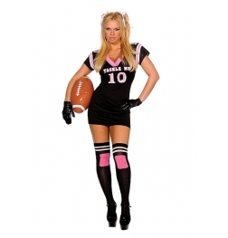 Tackle Me Dress With Mesh Top Costume