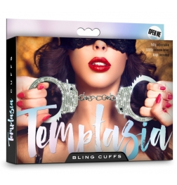 Temptasia Bling Cuffs - White Gem Stones