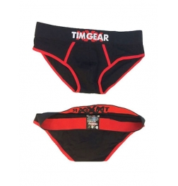TIM Gear Black and Red Brief Large