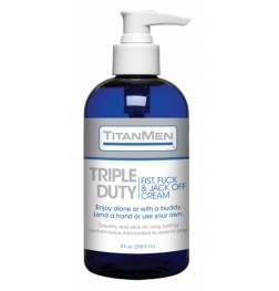 TitanMen Triple Duty Fist Fuck and Jack Off Cream 8 oz