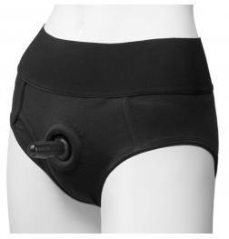 Vac-U-Lock Panty Harness Plug Briefs L/XL Black