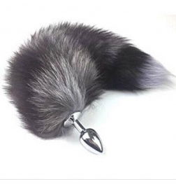Wolf Tail Silver Smooth Butt Plug