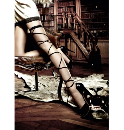 Wrap-Around Leg Garter OS Black