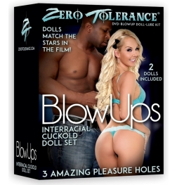 Zero Tolerance BlowUps Interracial Cuckold Doll Set