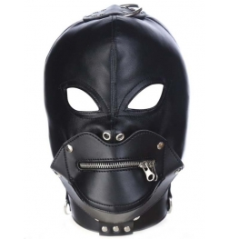 Zipper Mouth Bondage Hood