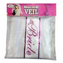 Bride-To-Be Veil White and Pink