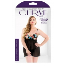 Curve Dahlia Molded Cup Babydoll And G-String