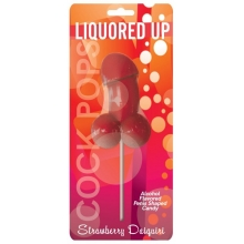 Liquored Up Cock Pops Alcohol Flavoured Candy Strawberry Daiquir
