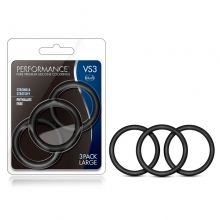 Performance VS3 Pure Premium Silicone Cock Rings Large