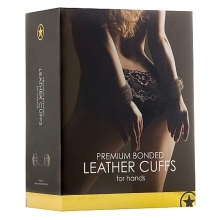 Premium Bonded Leather Cuffs for Hands - Brown