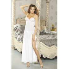 PURE Low Back Gown & G-String White