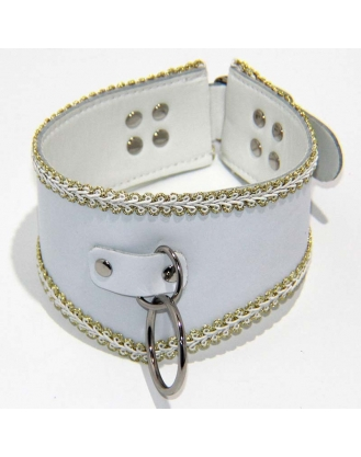 Posture Collar in White with O Ring Heavy
